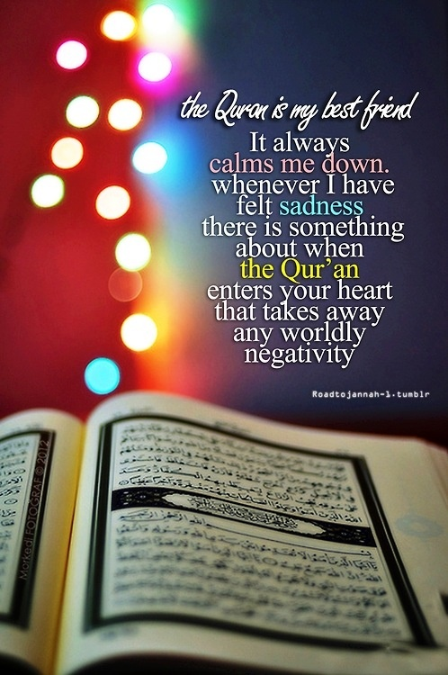 The Qur'an is so powerful that it immediately brings your heart at peace.. subhan Allah and Alhamdulilah!