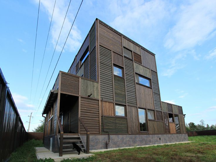Wood Patchwork #House by Peter Kostelov | Like & pin it to your board if you like this! #architecture #residential