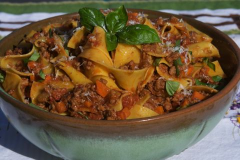 Pappardelle with Ragu Alla Bolognese Recipe I made this over the weekend and HOLY COW this is amazing.