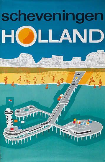 DP Vintage Posters - Scheveningen, the Netherlands - 1960s.