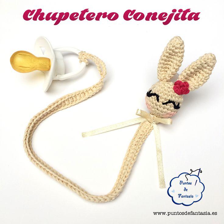 Ravelry: Chupetero Conejita / Bunny Pacifier by Puntos de Fantasía