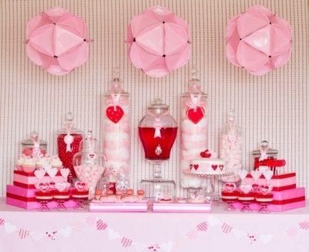 idées déco pour la Saint Valentin avec des sucreries