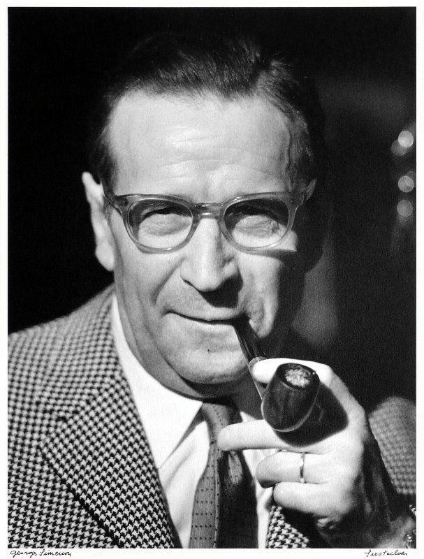 Georges Simenon Photo de Hubert Grooteclaes