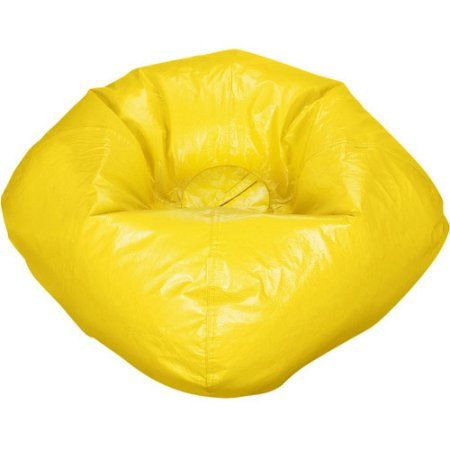 98 Inch Round Shiny Bean Bag Multiple Color Yellow
