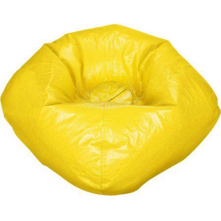 Ace Bayou Matte Vinyl Bean Bag 98 Inch Multiple Colors Yellow