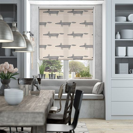 Mr Fox Mini Neutral Roller Blind from Blinds 2go