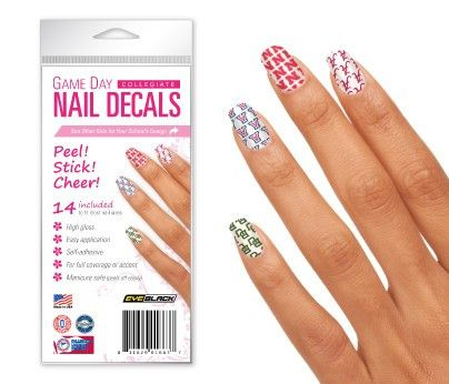 Miami Hurricanes Game Day Nail Decals