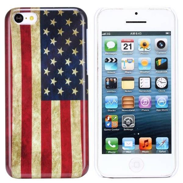 Amerikaanse vlag hardcase hoesje iPhone 5C