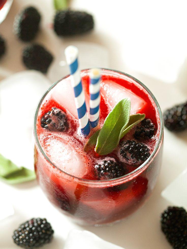 Blackberry Sage Lemonade Sparklers | drinks | Pinterest