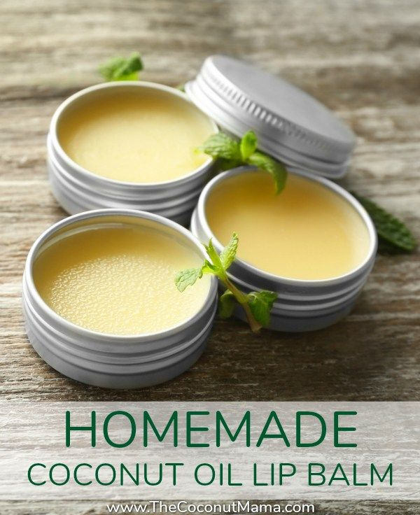 Coconut oil lip balm is easy to make! Check out this nourishing non-toxic recipe made with coconut oil, beeswax (or carnauba wax) and olive oil!