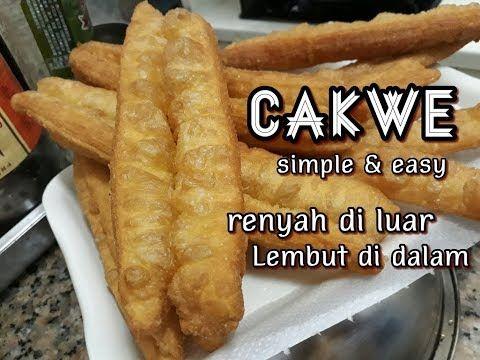 Cara Mudah Membuat Cakwe Resep Cakwe Goreng Youtube Food Food Recipies Recipes