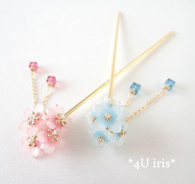 満開桜の2way一本簪(かんざし)