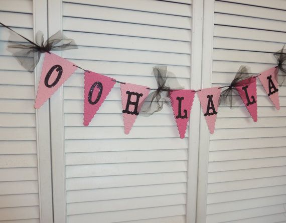 Ooh La La Lingerie Bachelorette Party Banner, Bridal Shower Decoration