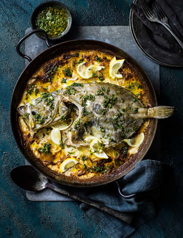 Baked John Dory with Dauphinoise Potatoes Recipe Check out this impressive whole John Dory recipe with indulgent creamy dauphinoise potatoes. This easy white fish dish is simple to make and perfect for a satisfying Saturday night dinner