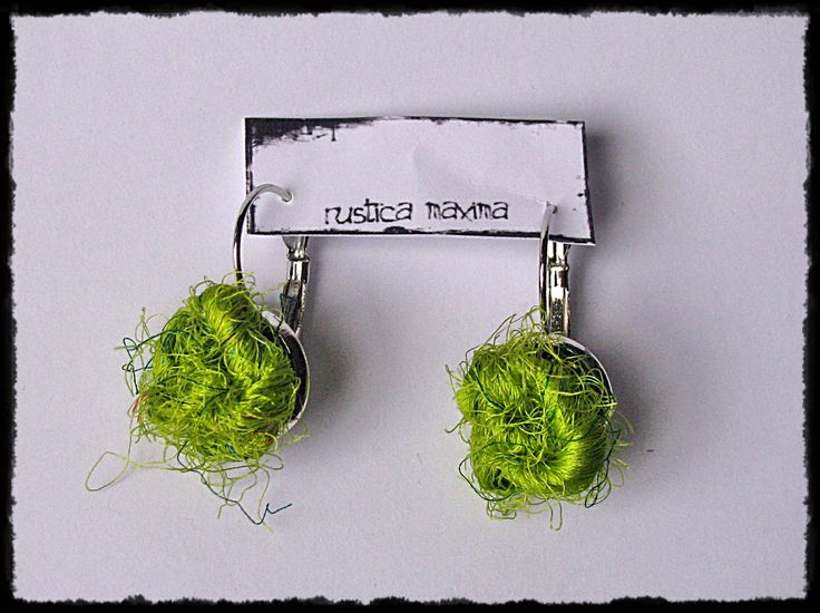 silk-knot earrings - #handmade, #sari silk, #unique