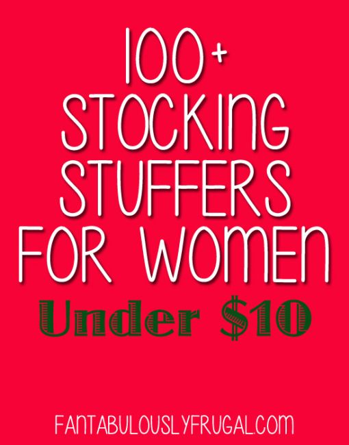 100 stocking stuffers for women under 10 fantabulously frugal fantabulously frugal gift. Black Bedroom Furniture Sets. Home Design Ideas