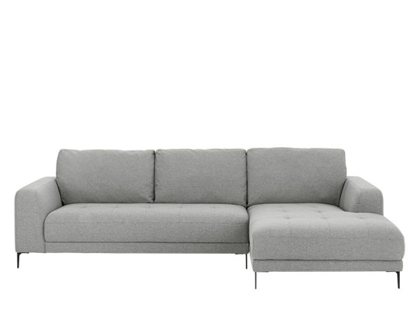 Luciano Right Hand Facing Corner Sofa, Mountain Grey