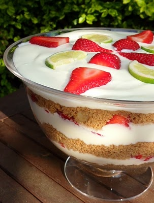 Strawberry and Lime margarita trifle