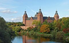 Aschaffenburger Schloss, edit.jpgSchloss Johannisburg is a schloss in the town of Aschaffenburg, in Franconia in the state of Bavaria, Germany. It was erected between 1605 and 1614 by the architect Georg Ridinger (de) for Johann Schweikhard von Kronberg, Prince Bishop of Mainz. Until 1803, it was the second residence of the Prince Bishop of Mainz