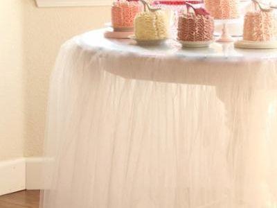 DIY Tutu Tablecloth