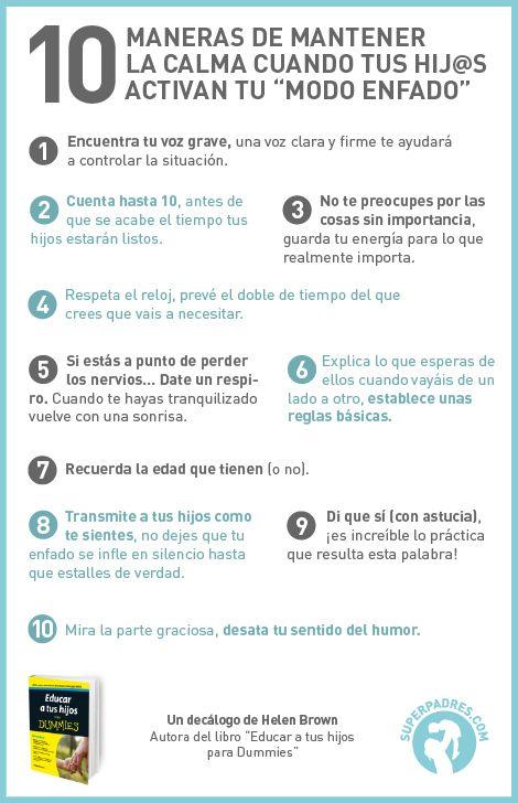 10 maneras de mantener la calma cuando tus #hijos activan el modo enfado #infantil