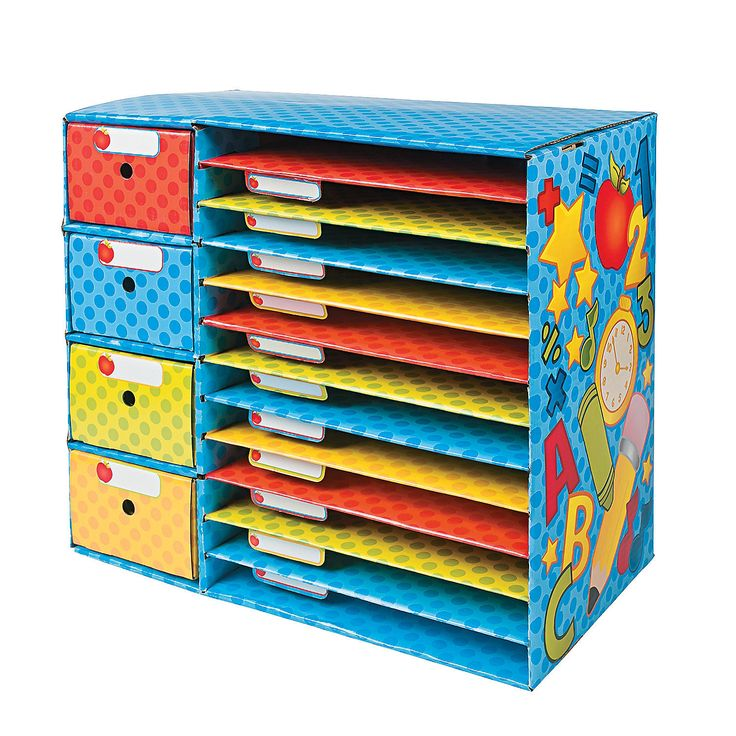 Classroom Sorter with Drawers - OrientalTrading.com Love this!!