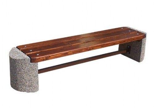 Ławka betonowa  Wysokość cakowita(cm): 46 Wysokość siedziska (cm): 46 Długość całkowita (cm): 200 Szerokość cakowita (cm): 45 Waga (kg): ok.150 Grubość listew (cm): 4 wiecej na www.cityarch.eu