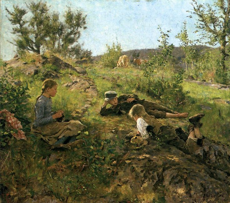 Shepherds on Tatøy Erik Werenskiold