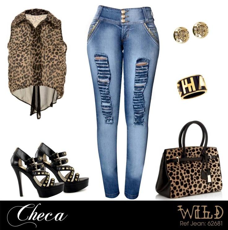 Rockstar !!! Complementa tus Checa Jeans con prendas en Animal Print & Taches para dar un toque glam y ser el punto de atencion. Vive tu mundo Checa !!!