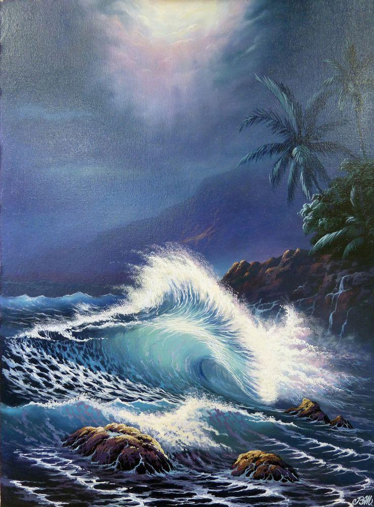 """Lassen seascape"" by Vladimir Shapovalov. 50x70 cm. oil on painting. http://drawinger.com"