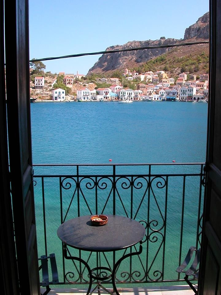 Balcony in Kastelorizo, Greece