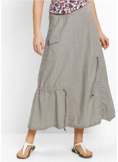 Льняная юбка, bpc bonprix collection, натуральный камень