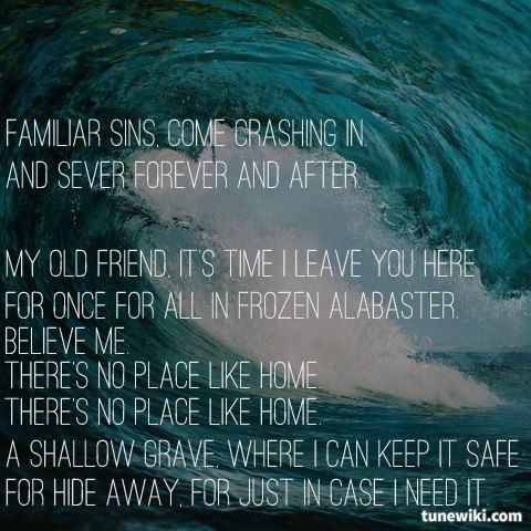 """-- #LyricArt for """"No Place Like Home"""" by Marianas Trench"""