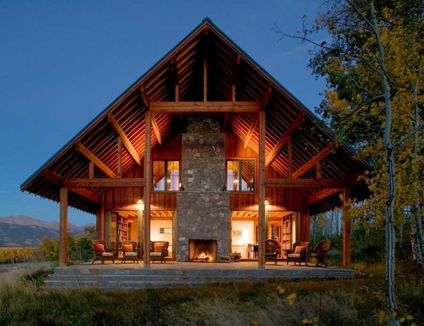 Ranch Home, Ranch House, Country House, Nature Materials, Outdoor Room, House Architecture, Outdoor Fireplaces, Outdoor Spaces, Logs Cabin