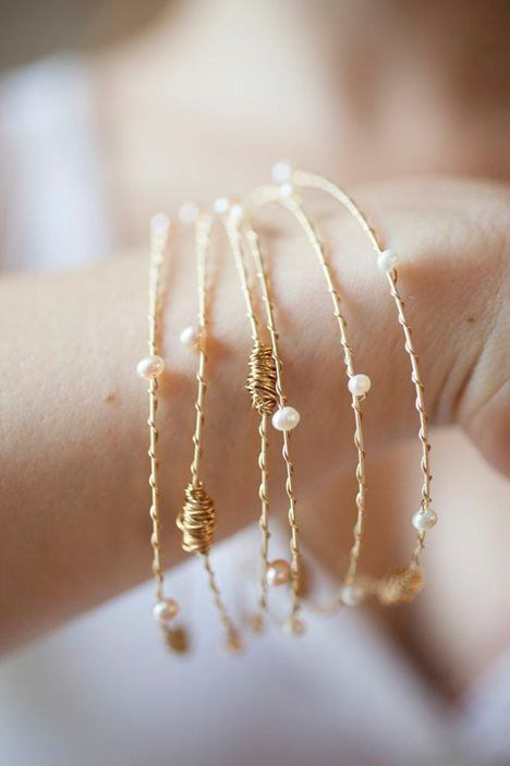 Recycled Guitar String bangles//