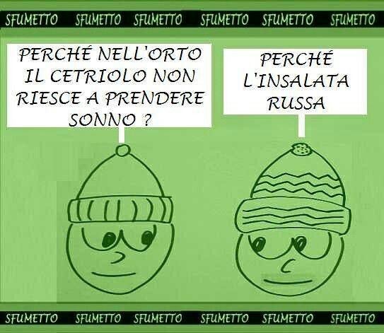 #Indovinello nell'orto. #barzellette #battute #vignette