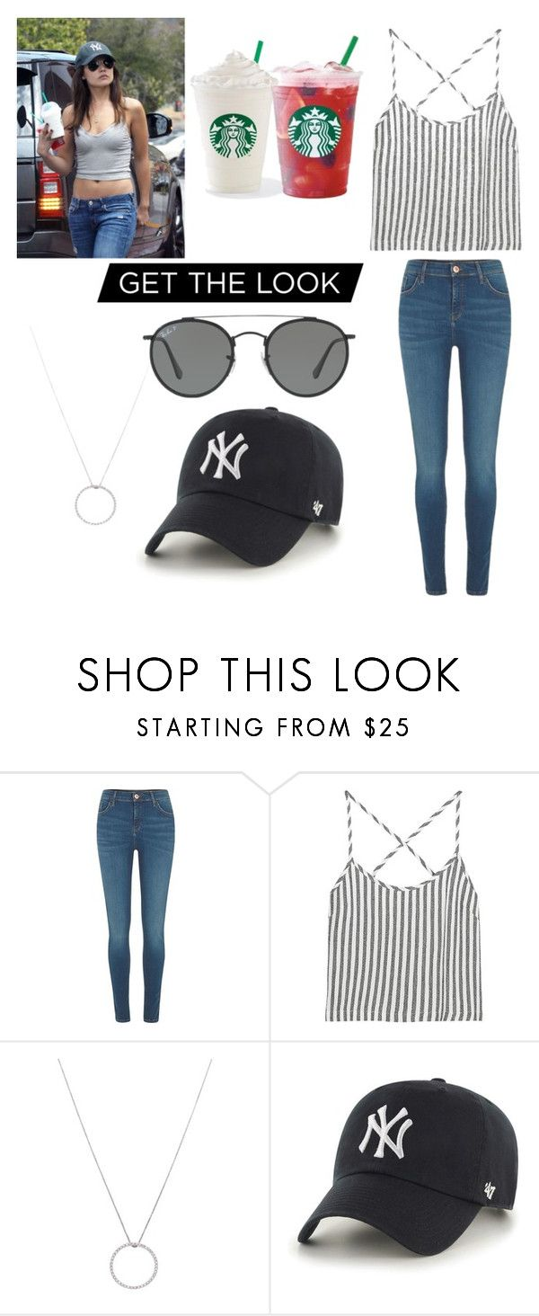 """Get the Look: Danielle Campell❤️"" by mo2017 ❤ liked on Polyvore featuring River Island, Kain, Roberto Coin, '47 Brand and Ray-Ban"