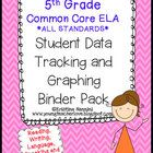 *5th Grade Common Core- READING, WRITING, SPEAKING and LISTENING, and LANGUAGE  -ALL ELA standards are included in this Student Data Tracking Binder...