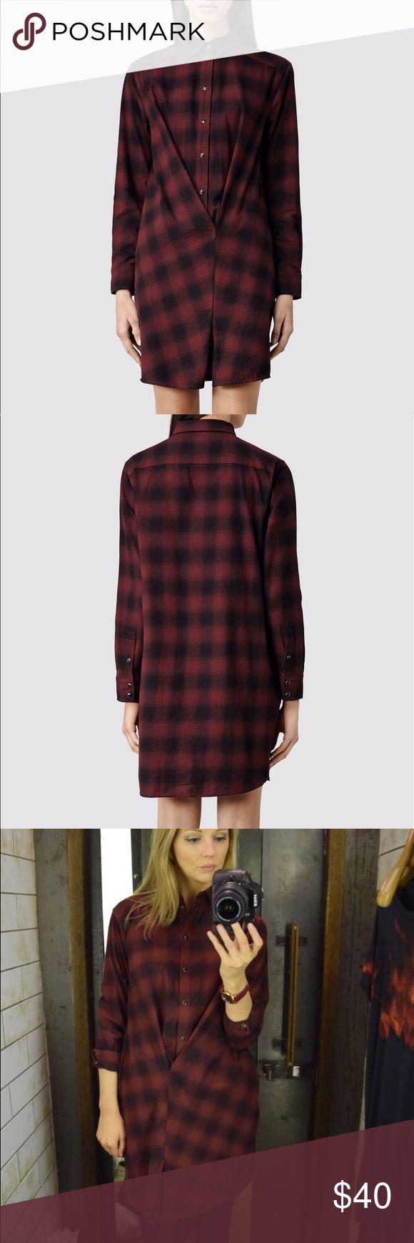 All Saints flannel shirt dress All Saints Kayla flannel shirt dress All Saints Dresses Long Sleeve
