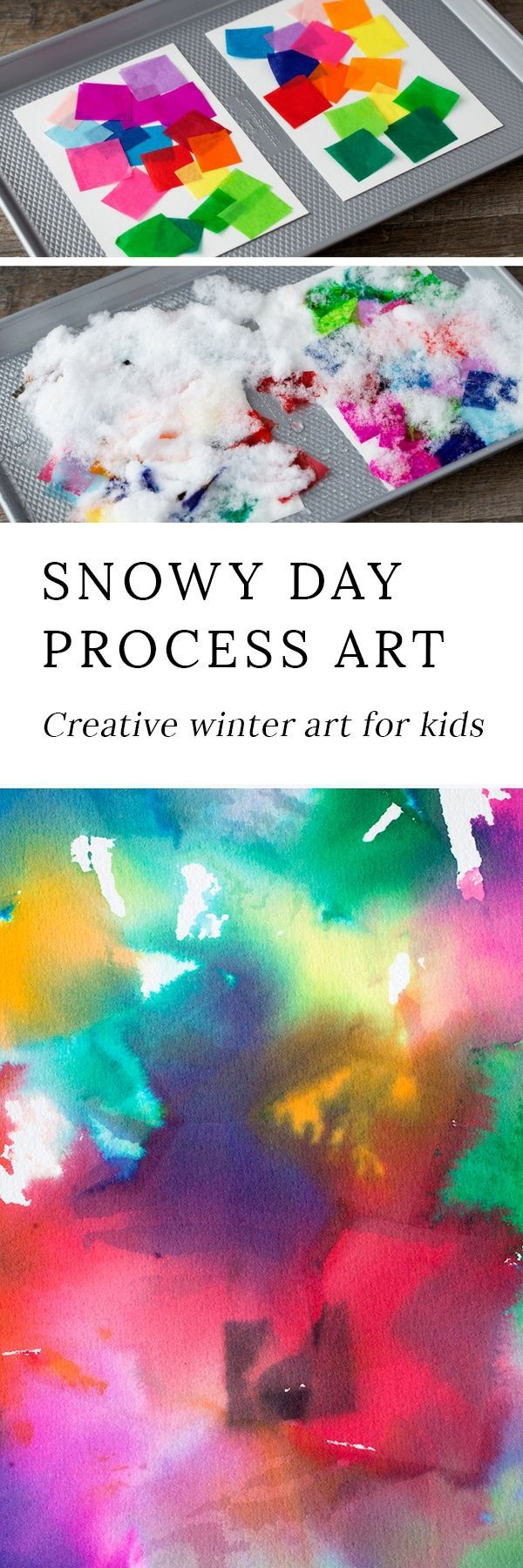 Snowy Day Process Art : Creative winter art for kids