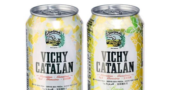 FoodBev.com | News | Vichy Catalán mineral water in cans  Vichy Catalán, the only Spanish producer to market its product in this packaging format