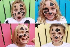 face painting a cow face - Google Search