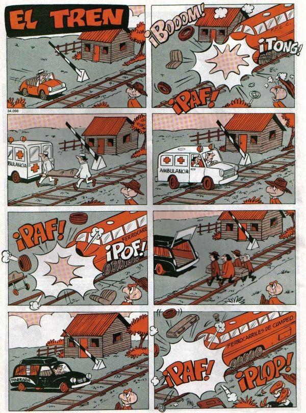 Condorito y el tren