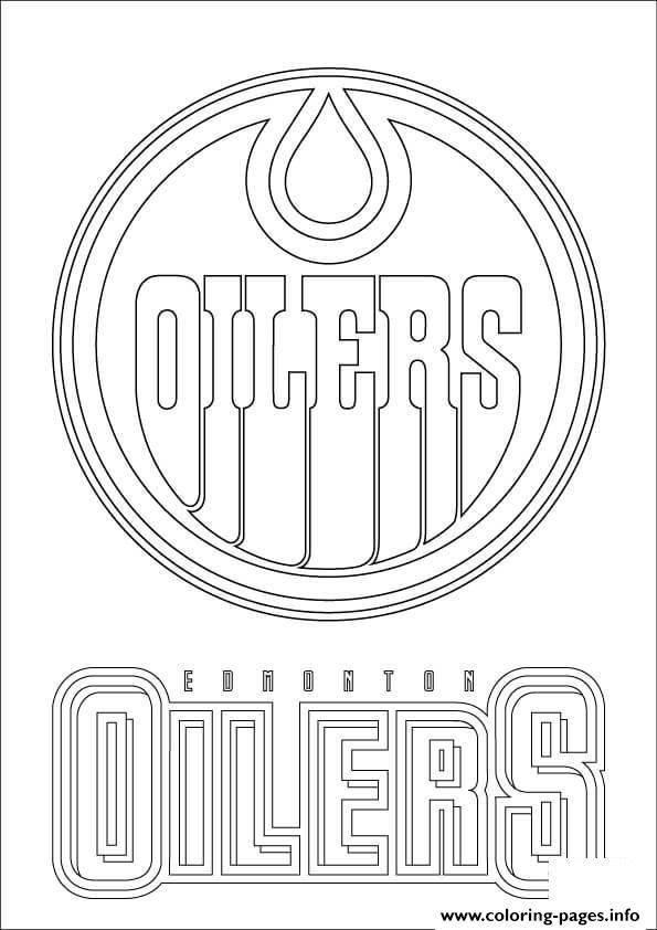 Print Edmonton Oilers Logo Nhl Hockey Sport Coloring Pages