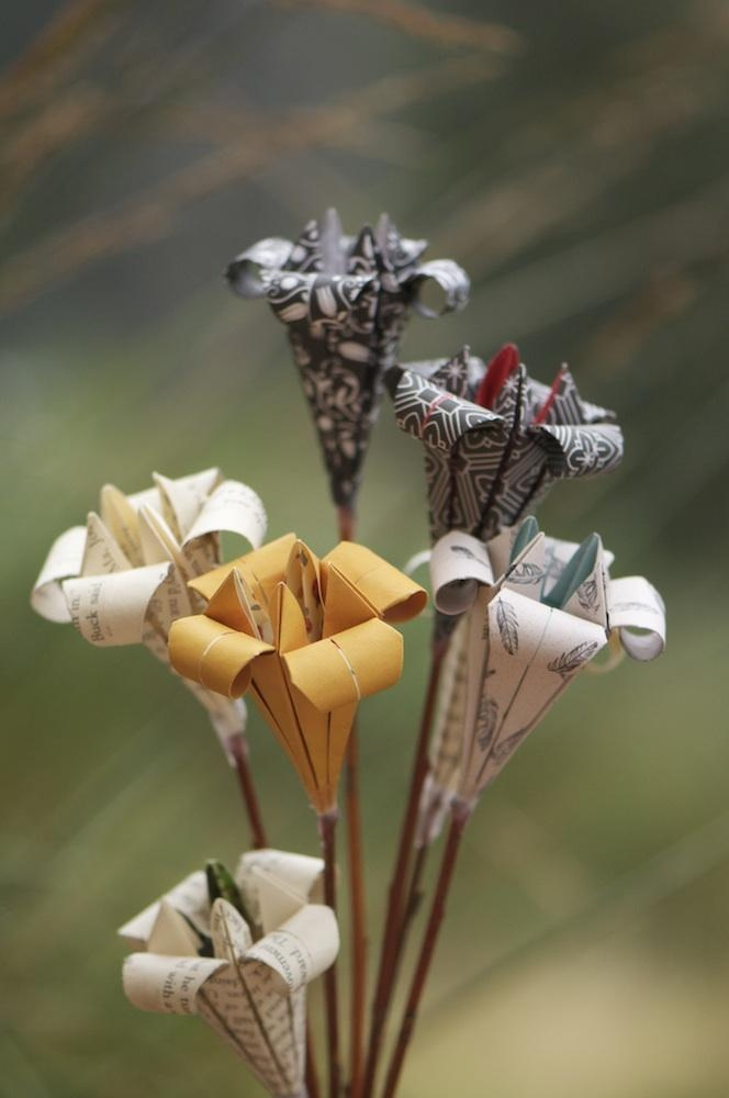 origami flowers - from our latest print run - by hideyo. designs, Australia