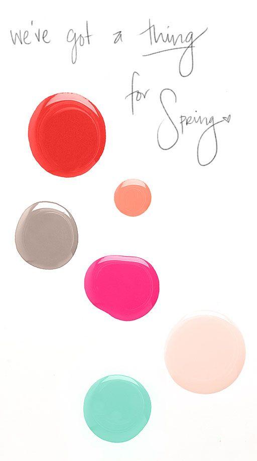 pretty: Nail Polish, Favorite Spring, Spring Colors, Spring Nails, Nail Colors, Makeup, Nail Tutorials