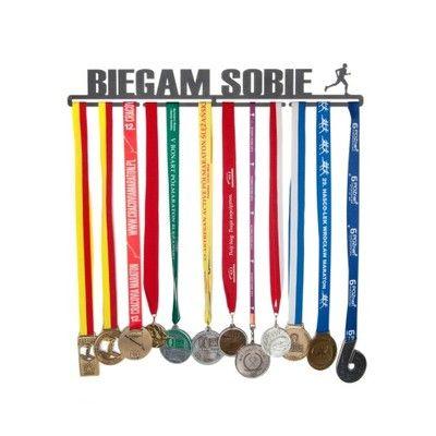Wieszak na medale - Biegam sobie BIEGACZ - 56 cm