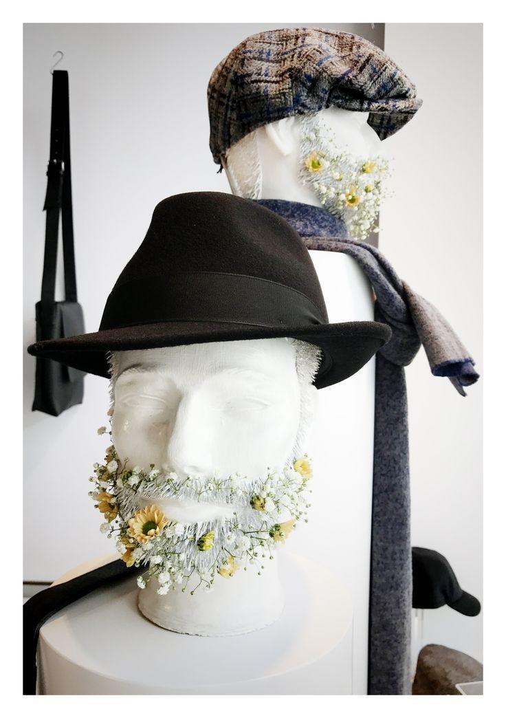 window display - etalage - shop - men - flowers - www.awardt.be