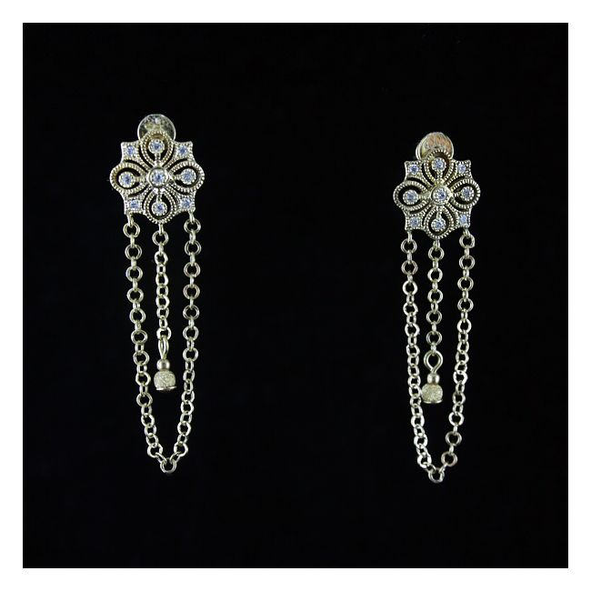 Golden orient earrings