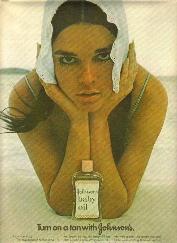 Baby Oil for tanning♥♥ We'd add a bit of Iodine for a quicker tan! And NO ONE worried about overexposure to the UV rays!